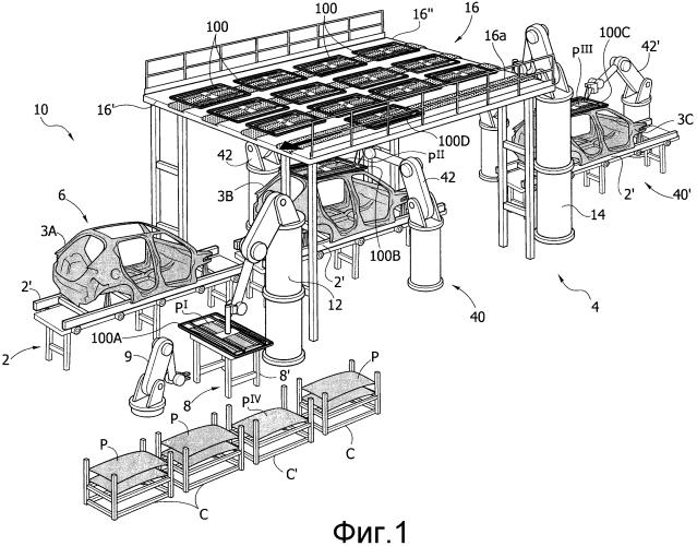 Система для сборки компонента на каркасе кузова автомобиля