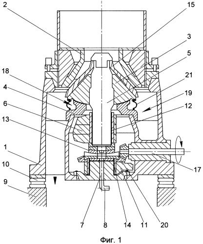 Конусная инерционная дробилка с усовершенствованным уплотнением