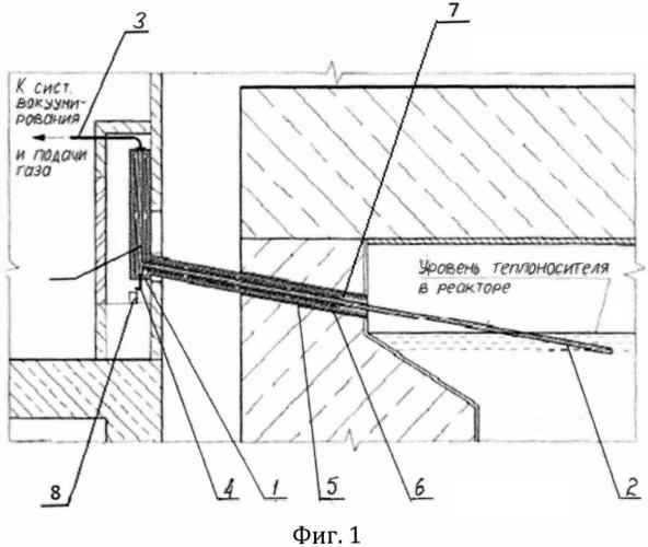 Устройство для отбора проб жидкометаллического теплоносителя ядерного реактора, в котором выполнен канал для отбора проб