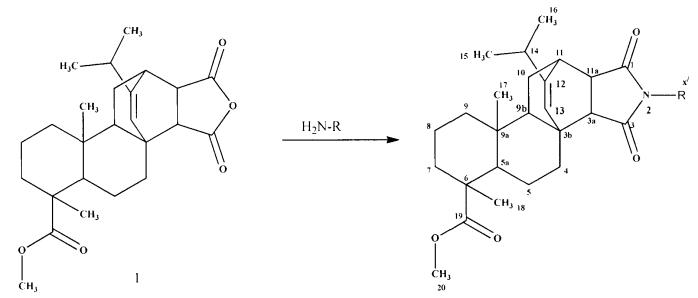 Способ получения имидов метилового эфира малеопимаровой кислоты