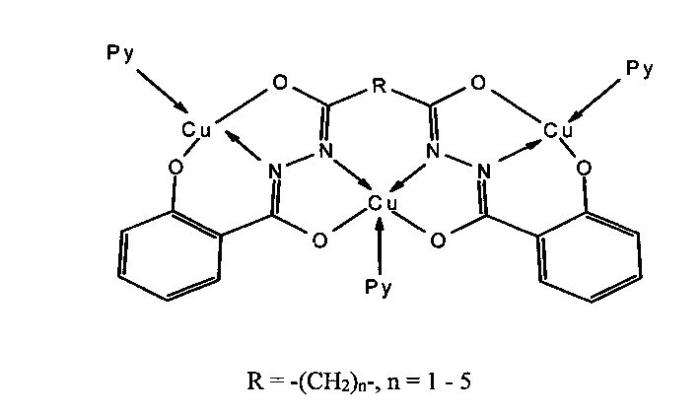 Способ синтеза гетеротриядерного координационного соединения на основе салицилиденгидразона иминодиуксусной кислоты
