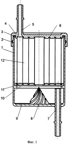Фильтр тонкой очистки топлива многократного использования