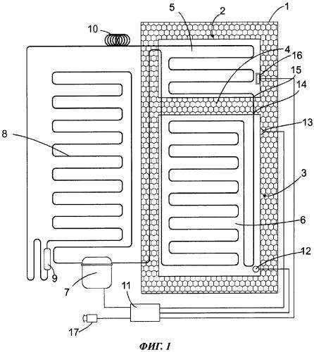 Одноконтурный холодильный аппарат и способ эксплуатации такого аппарата