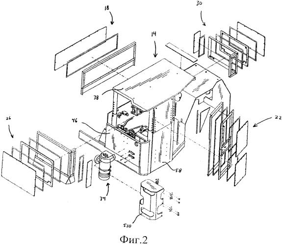Кабина оператора (варианты), транспортная тележка и устройство управления микроклиматом