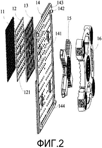Способ изготовления поддерживающей подложки и устройство отображения на основе сид