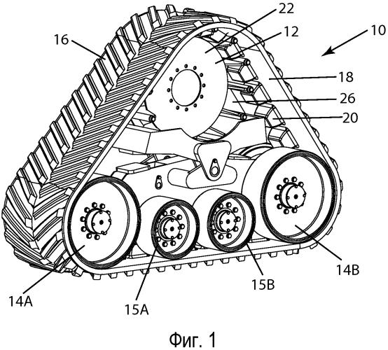 Гусеничное модульное устройство и его открытое ведущее колесо