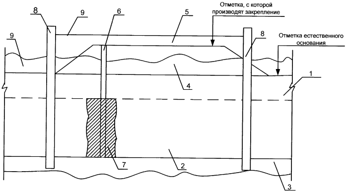 Способ возведения сооружения на слабонесущих грунтах в акватории водных объектов