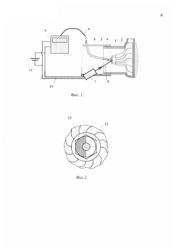 Система измерения частоты вращения ротора микро газотурбинной установки с двигателем на основе турбокомпрессора от двс