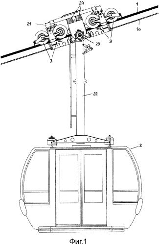 Ролик для установок подвесных канатных дорог