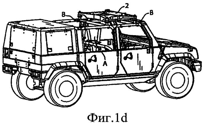 Установочная конструкция для огнестрельного оружия на транспортном средстве