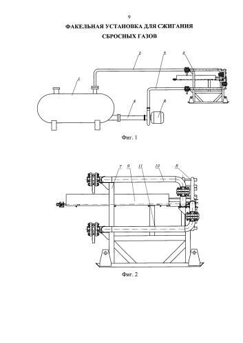 Факельная установка для сжигания сбросных газов