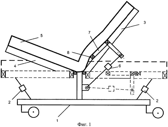 Двухсекционная функциональная кровать