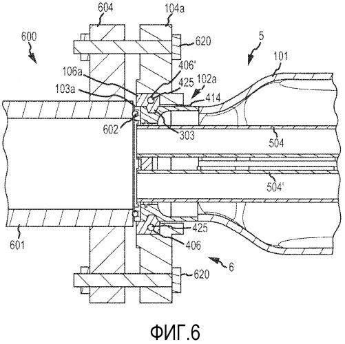 Способ и устройство удержания фланца на расходомере