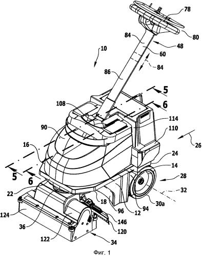 Полоуборочная машина с ручным управлением