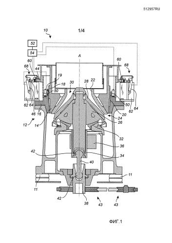 Конусная дробилка и способ подготовки конусной дробилки к эксплуатации