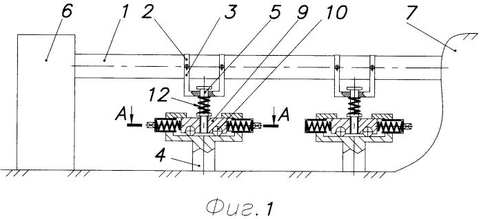 Способ равномерного распределения уровней напряжённо-деформированного состояния по трубе надземного перехода с помощью опор