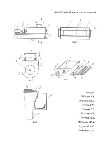 Горизонтальный смеситель материалов