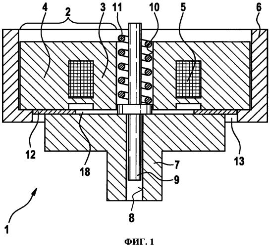 Минимизация дребезга якоря электромагнитного клапана при его закрытии с помощью замедляющего звена в остаточном воздушном зазоре