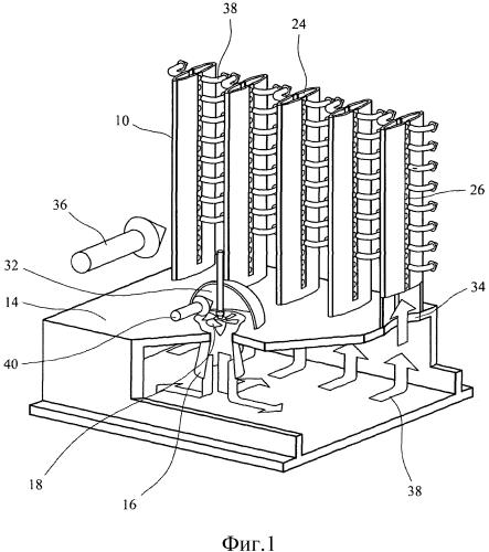 Установка и метод для генерирования энергии из потока жидкости
