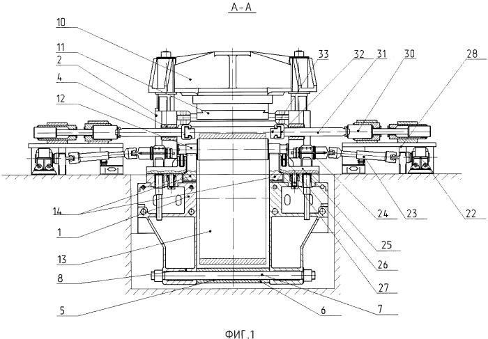 Ковочный агрегат для изготовления колец большого диаметра