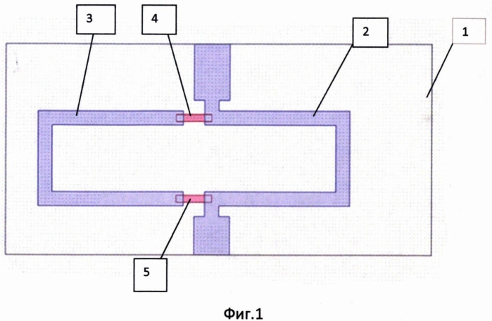 Микрополосковый корректор амплитудно-частотной характеристики