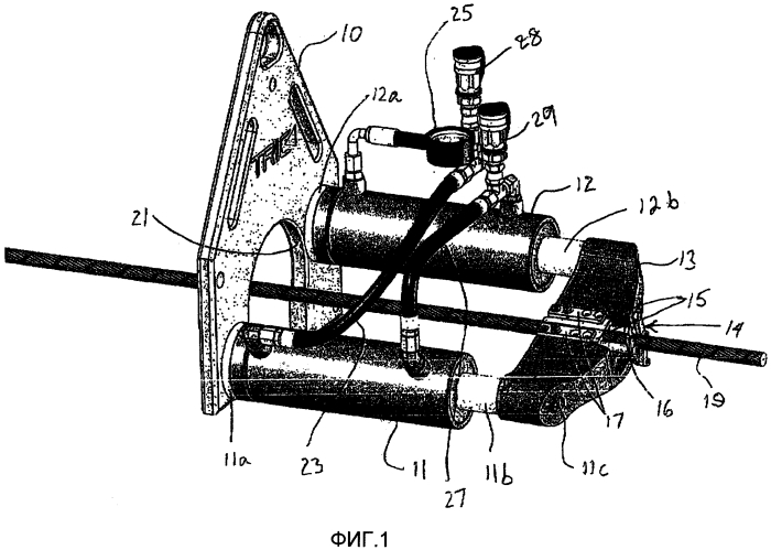 Установка для замены подземной трубы на сменную трубу