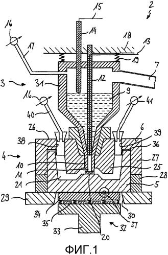Способ и устройство для изготовления металлической детали посредством использования приспособления для литья и формования