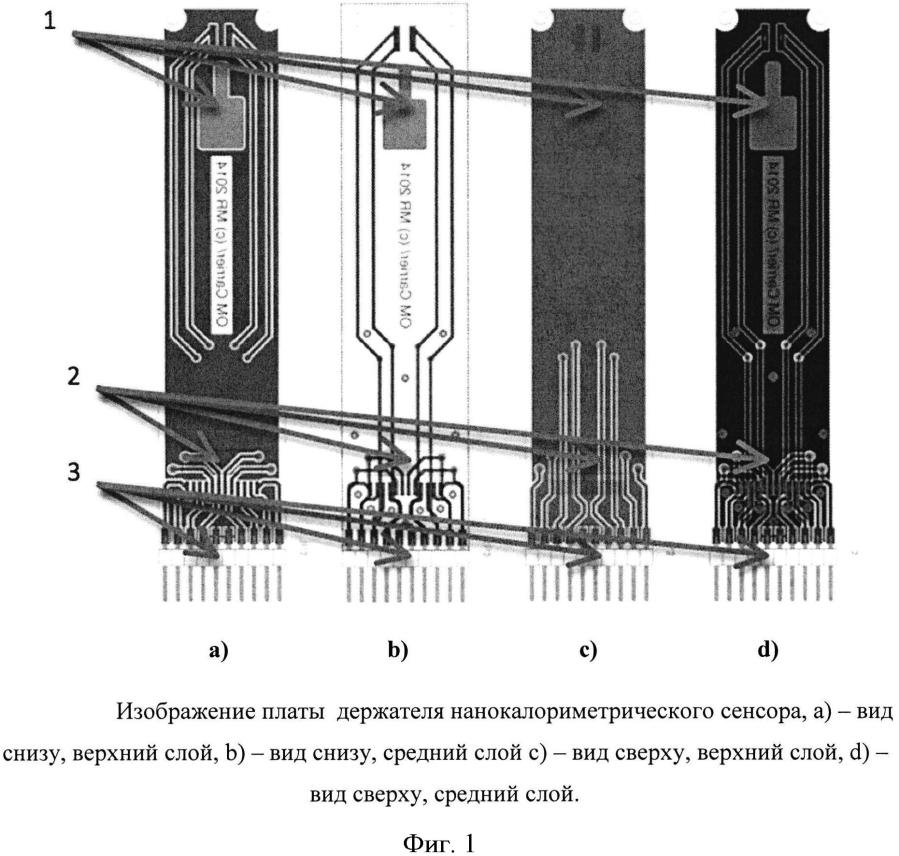 Блок держателя нанокалориметрического сенсора устройства для измерения теплофизических и/или морфологических параметров образца