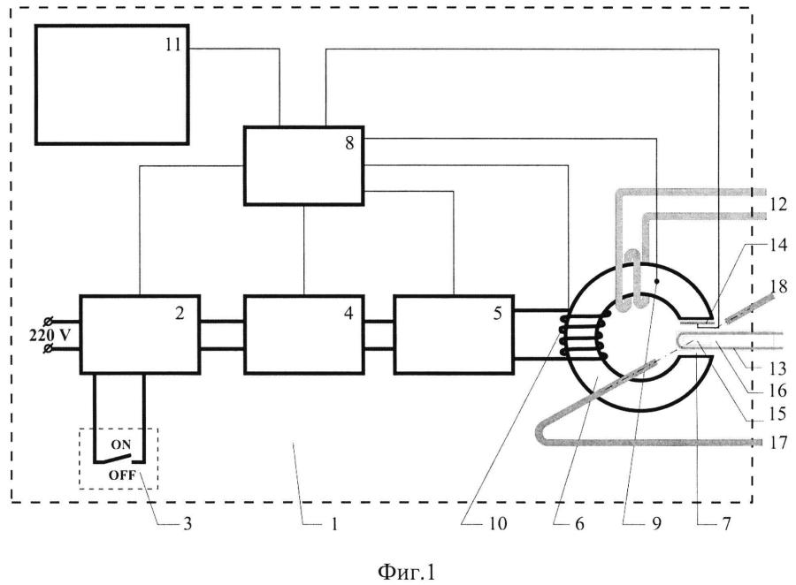 Устройство для исследования воздействия низкочастотного магнитного поля на кинетику биохимических процессов в биологических системах, содержащих магнитные наночастицы
