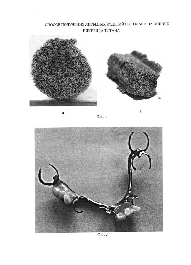 Способ получения литьевых изделий из сплава на основе никелида титана