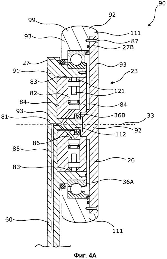 Скважинный приводной агрегат, имеющий расположенный в колесе гидравлический двигатель