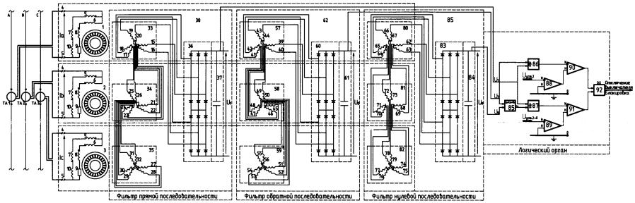 Устройство отстройки от бросков тока намагничивания при включении под напряжение для дифференциальной защиты трансформатора
