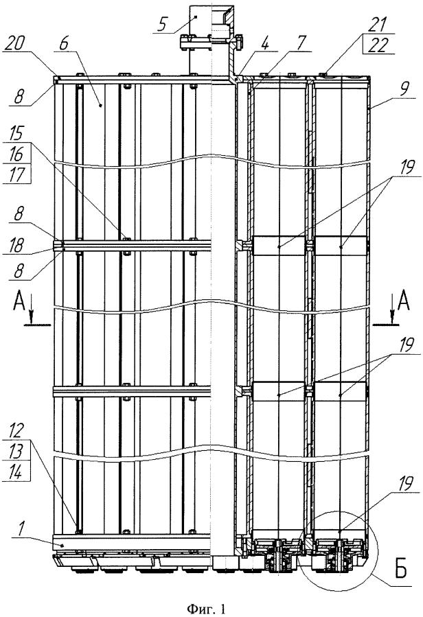 Чехол для размещения и хранения отработавших тепловыделяющих сборок реактора ввэр-1000