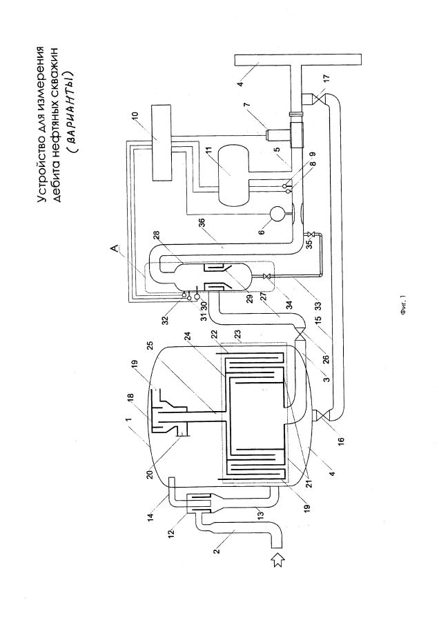 Устройство для измерения дебита нефтяных скважин (варианты)