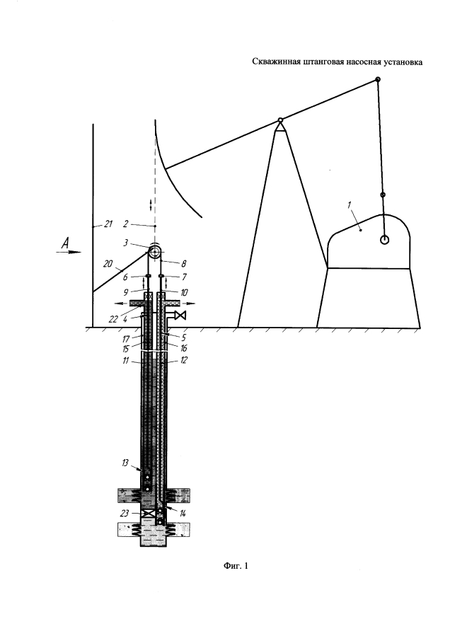 Скважинная штанговая насосная установка