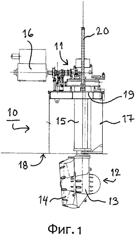 Способ разборки и/или сборки подводной секции выдвижного подруливающего устройства