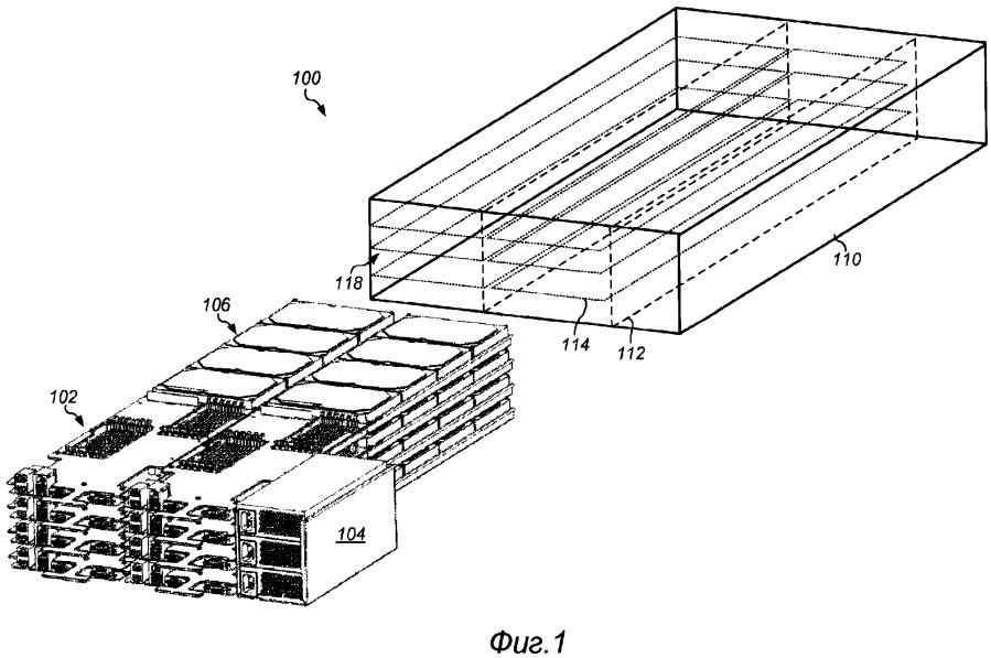Полка регулируемой конфигурации для вычислительных модулей