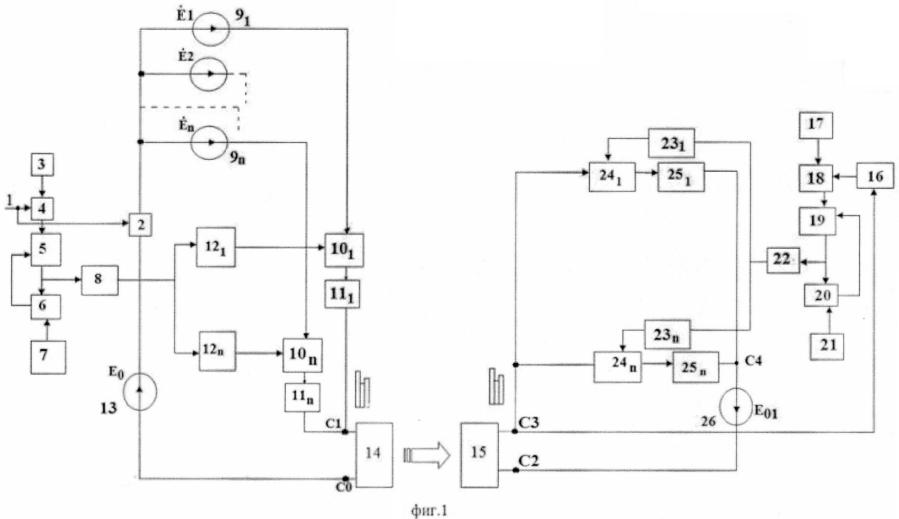 Устройство передачи n-фазной системы напряжений по беспроводной сети