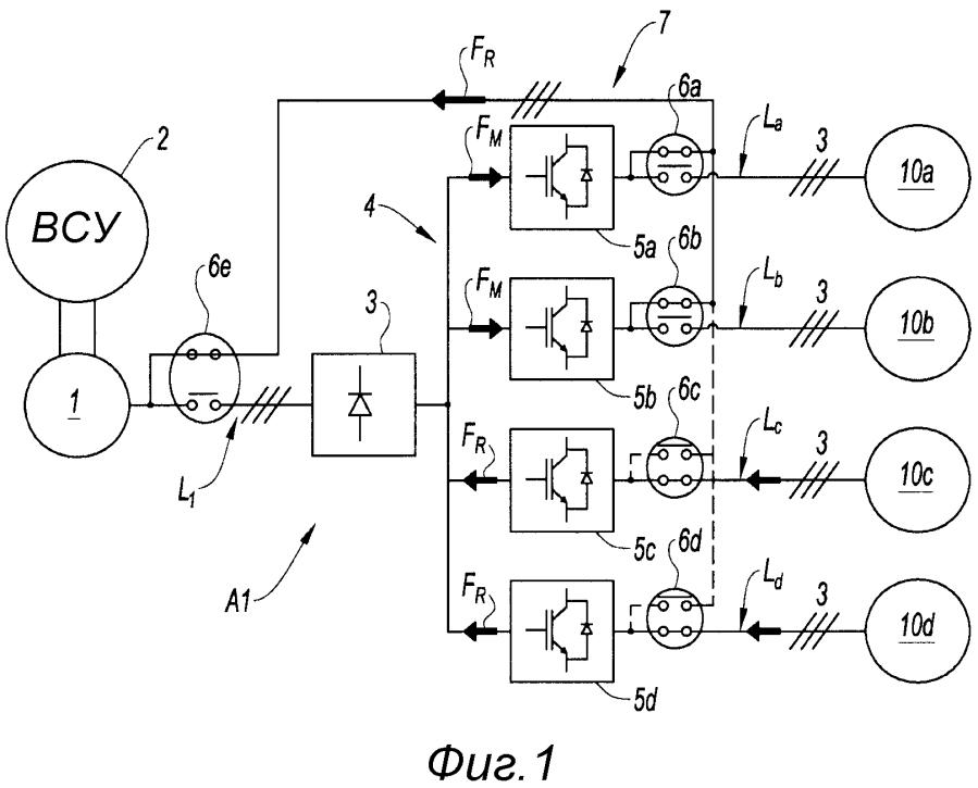 Способ и устройство обработки регенерированной электрической энергии летательного аппарата