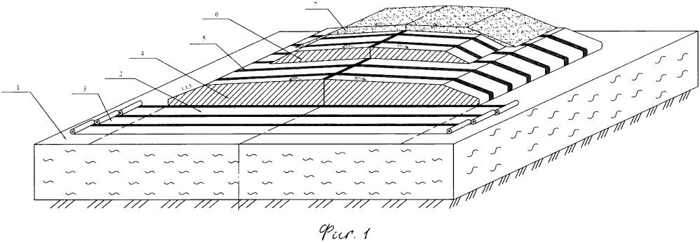 Земляное полотно на болотах с устройством опорной грунтовой обоймы уширенного типа