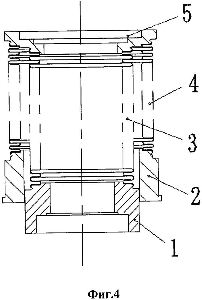 Уплотняющая сборка из гофрированных труб и вентиль с этой уплотняющей сборкой