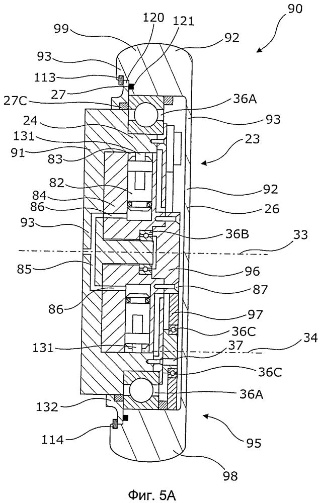 Скважинный приводной агрегат с пружинной деталью для сборки корпуса гидравлического двигателя