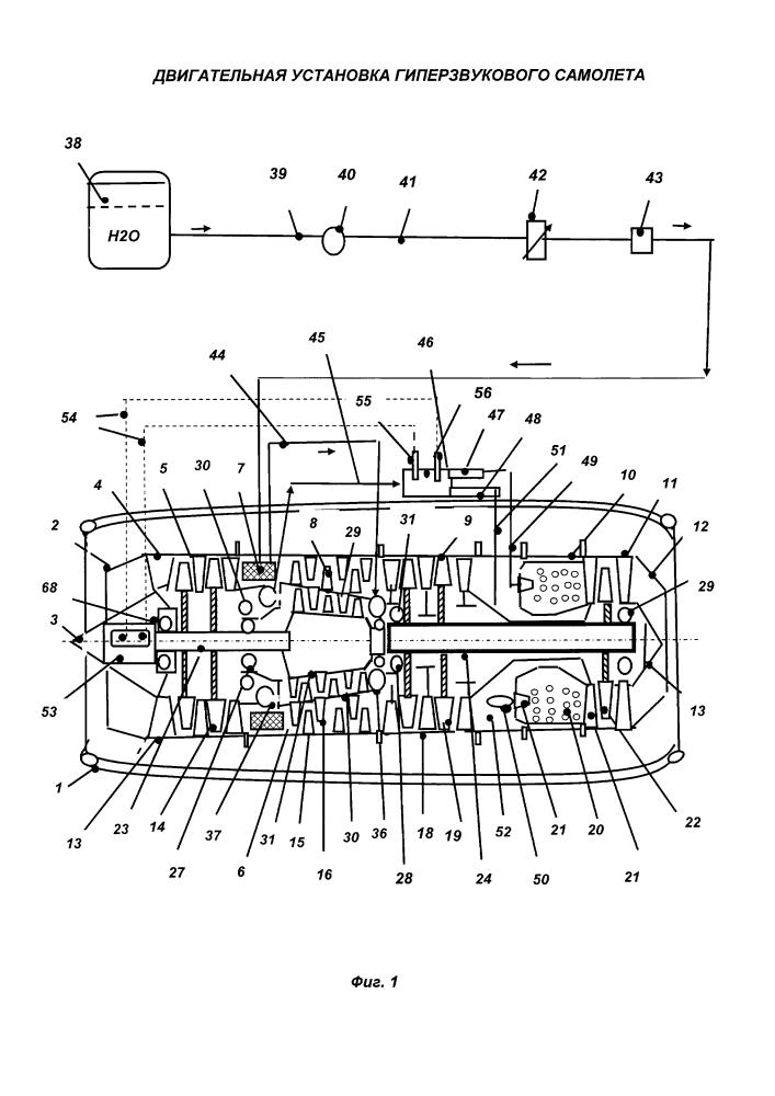 Двигательная установка гиперзвукового самолета