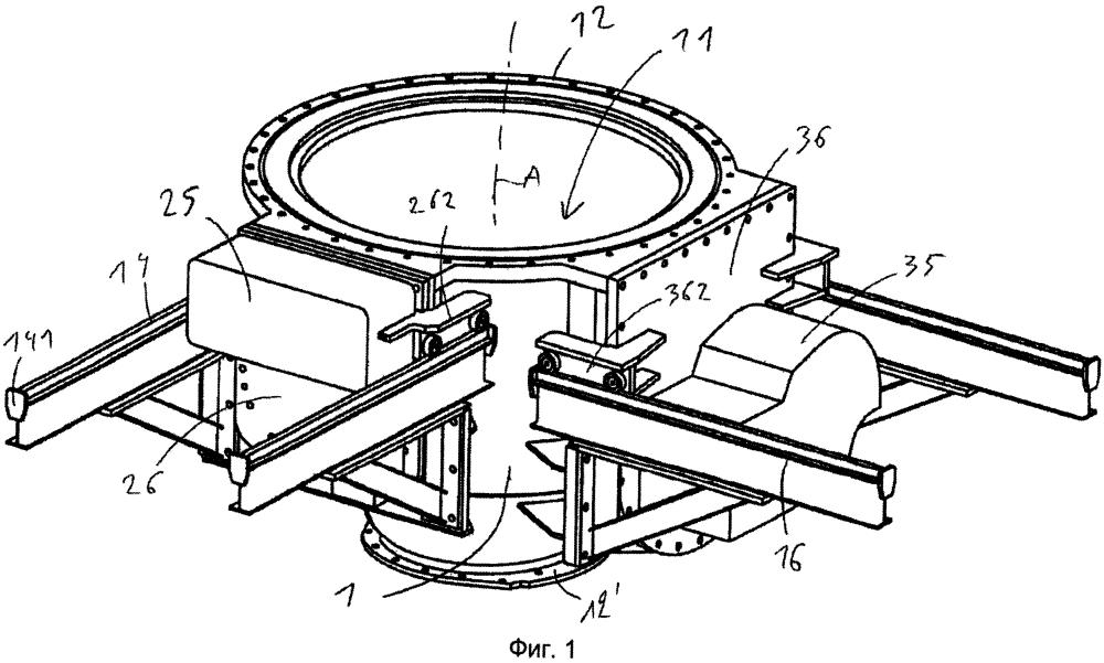 Блок затвора и клапана для загрузочного устройства шахтной печи