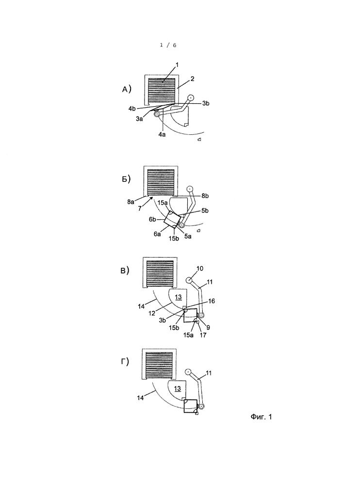 Устройство и способ снижения усилий возврата заготовок пакетов в разливочной машине