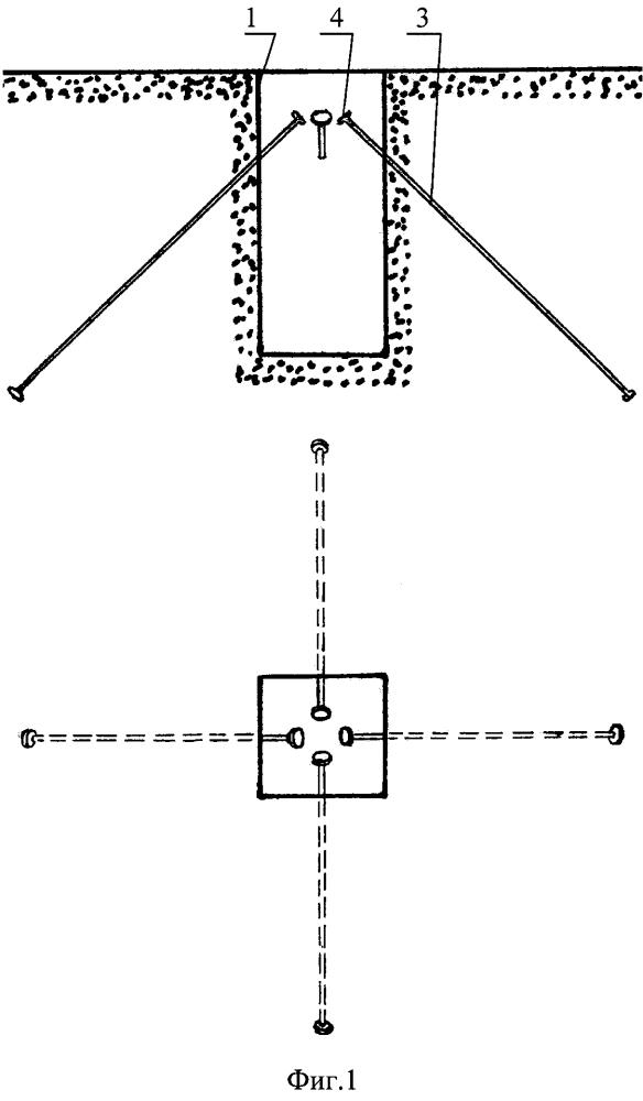 Неизвлекаемая опалубка для изготовления колодца под анкерное крепление