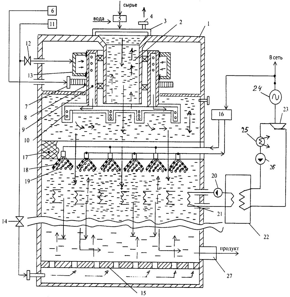 Реактор для аэробной ферментации биомассы
