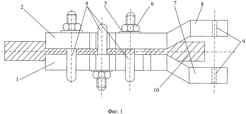 Устройство для закрепления стального каната при вытяжке