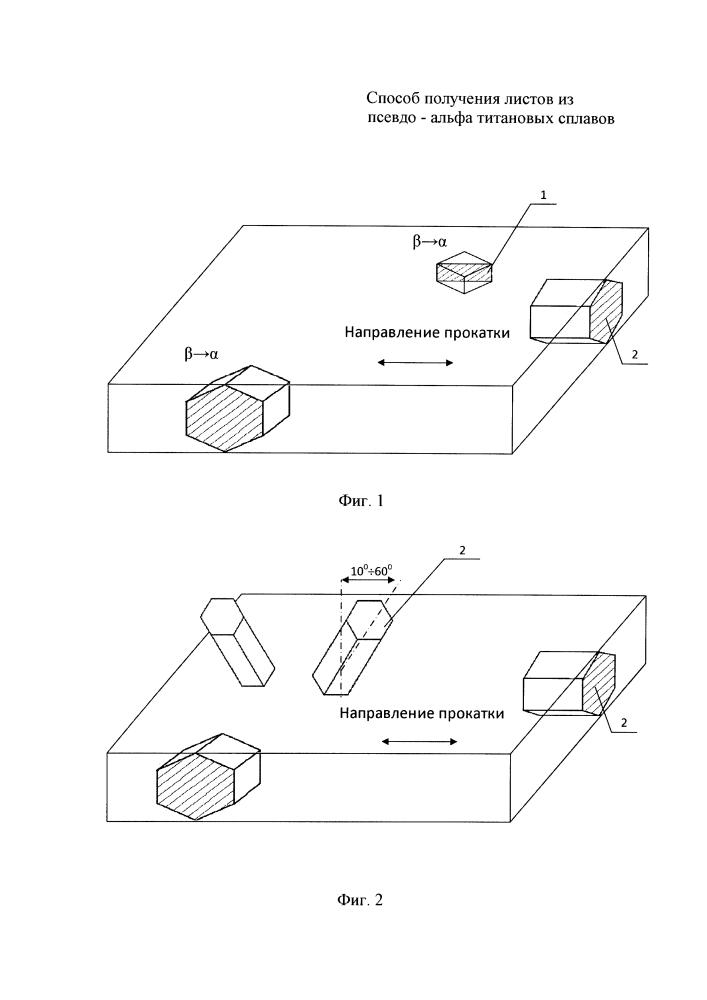 Способ получения листов из псевдо-альфа титановых сплавов