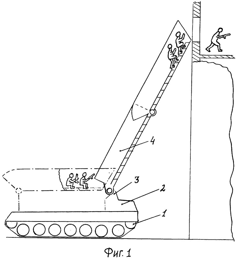 Боевая машина для доставки личного состава силовых структур в бронированном отсеке в зону боевых действий